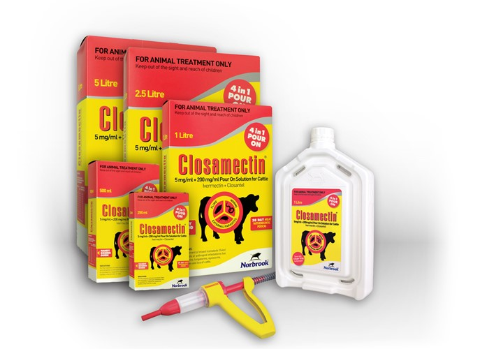 Closamectin® Pour-on Solution for Cattle from Norbrook subject to an increased withdrawal period